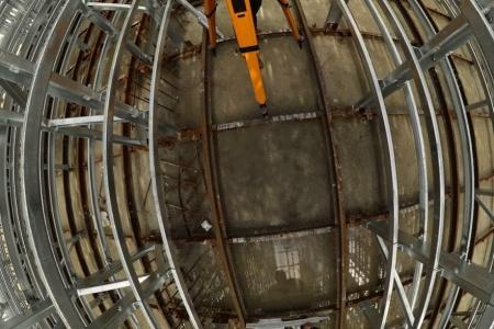 Geodezyjna obsługa inwestycji. Dojrzewalnia betonu.